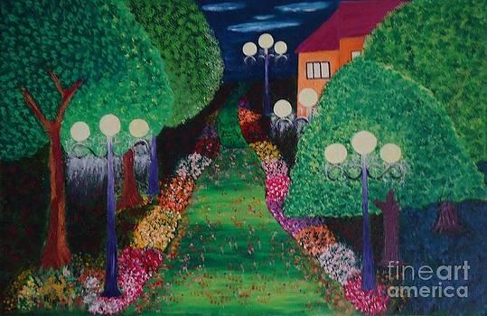 Garden in backdoors by Jnana Finearts