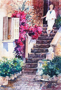Garden In Italy By Renae Hill