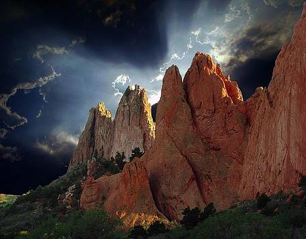 Garden Megaliths with Dramatic Sky by John Hoffman