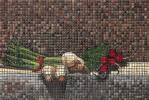 Garden Mosaic by Edee Proctor