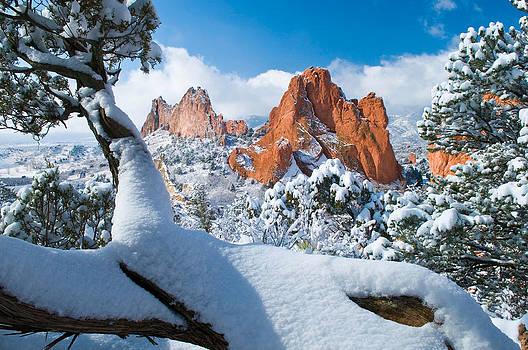 Garden of the Gods after a Snow by John Hoffman