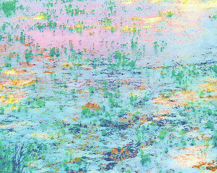 Garden Pond Reflections for Monet by Iris Posner