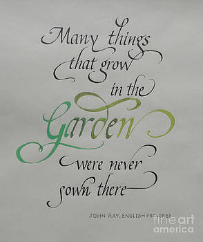 Garden Quote by Gloria Cooper