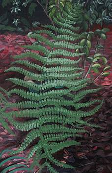 Garden Surprise Painting in Acrylics by Lois Bailey