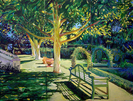 Garden With Oaks by Geoff Greene