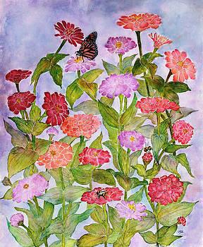 Garden Zinnia's by Janet Immordino