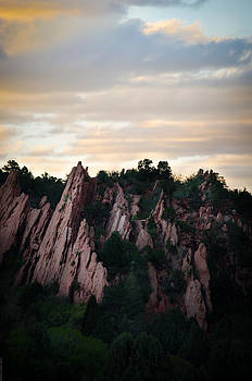 Gardens of the Gods at Sunset by Debbie Karnes
