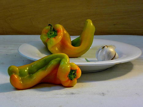 Garlic and Peppers by Deborah  Crew-Johnson