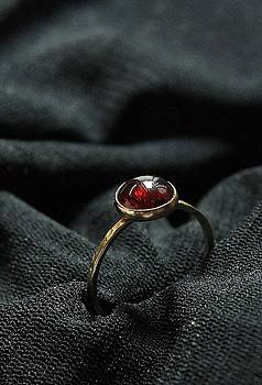 GARNET in 14k gold filled stackable birthstone rings by Nadina Giurgiu