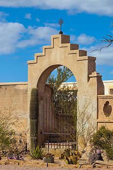 Gate at San Xavier del Bac by Ed Gleichman