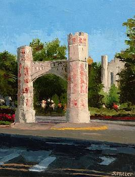 Gate on Parrington Oval at OU by Sylvia Miller