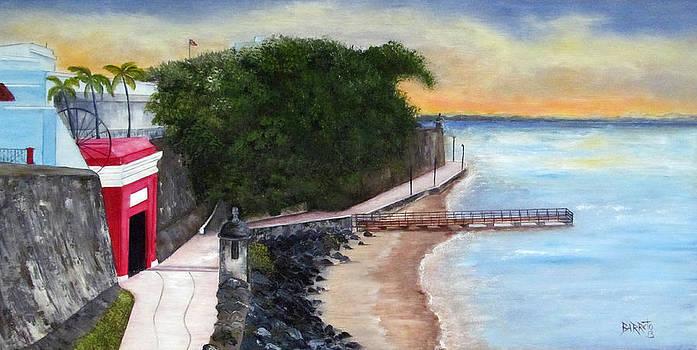 Gate to Old San Juan by Gloria E Barreto-Rodriguez
