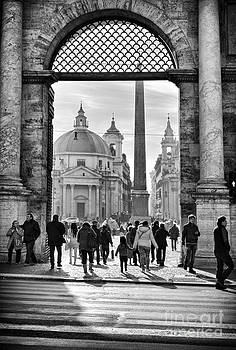Sophie McAulay - Gate to Piazza del Popolo in Rome