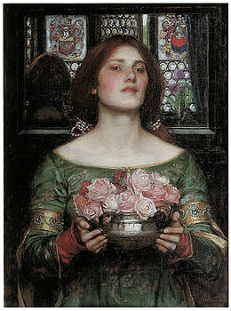 J W Waterhouse - Gather Ye Rosebuds While Ye May