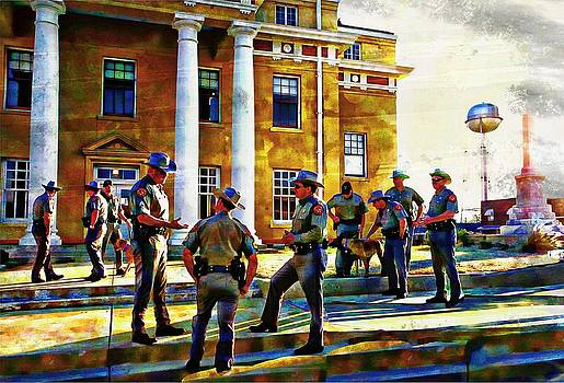 Gathering in front of The Courthouse by Carrie OBrien Sibley