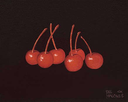 Gathering of Cherries by Del Malonee