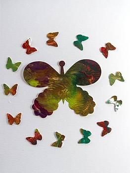 Gathering of the Butterflies by Paula Sche-Baldwin