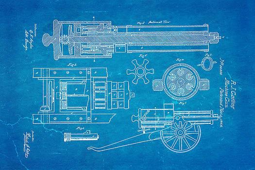 Ian Monk - Gatling Machine Gun Patent Art 1862 Blueprint