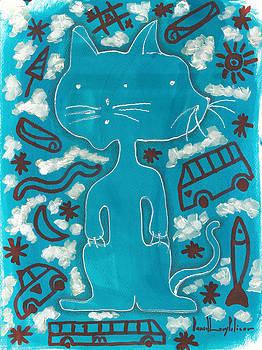 Gato Azul  by Daniel Levy policar