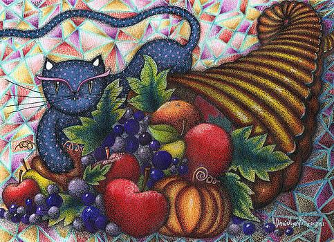 Gato Con El Cuerno De La Abundancia by Daniel Levy policar
