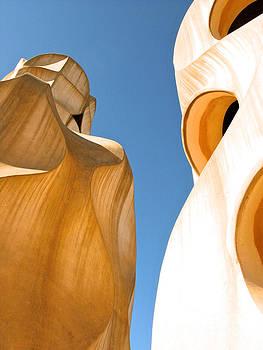 Gaudi Twin Chimneys by Don Kenworthy