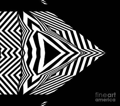 Geometric Art Black White Abstract No.304. by Drinka Mercep