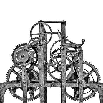 Gear wheels of a medieval church clock 1 of 3 by Martin Bergsma