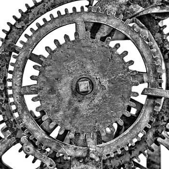 Gear wheels of a medieval church clock 2 of 3 by Martin Bergsma
