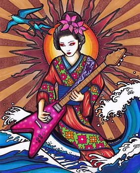 Geisha Guitar by Julie Oakes