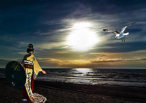 Algirdas Lukas - Geisha near Sea