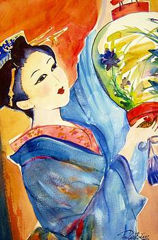 Geisha Watercolor My Way by Therese Fowler-Bailey
