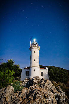 Gelidonia lighthouse under the stars by OUAP Photography