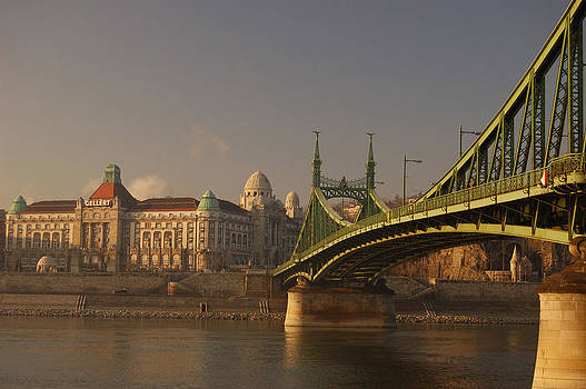 Gellert and Szabadsag Bridge in Budapest  by Eric Keesen