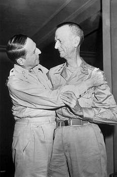Generals Douglas Macarthur And Jonathan by Everett