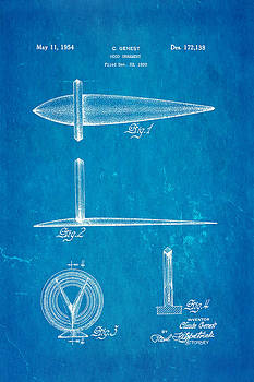 Ian Monk - Genest Hood Ornament Patent Art Blueprint