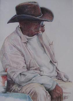 Gentleman Wearing the Dark Hat by Sharon Sorrels