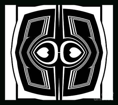 Drinka Mercep - Geometric Abstract Black White Art No.202.