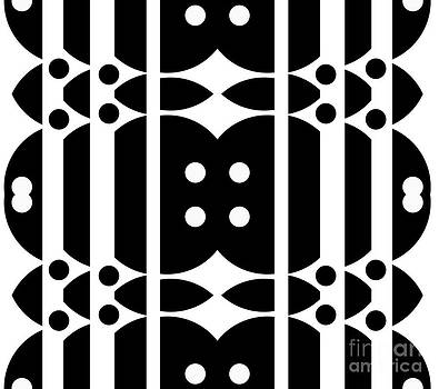 Geometric Art Abstract Black White Pattern No.323. by Drinka Mercep