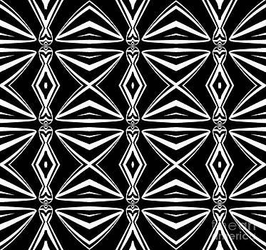 Drinka Mercep - Geometric Art Pattern Black White Abstract Print No.211