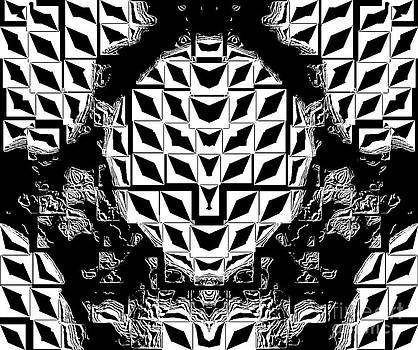 Drinka Mercep - Geometric Black White Abstract Art No.262