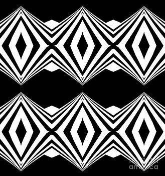 Drinka Mercep - Geometric Black White Pattern Art Print No.207