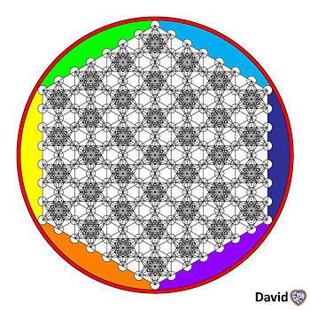 Geometric Flower Of Life by David Diamondheart