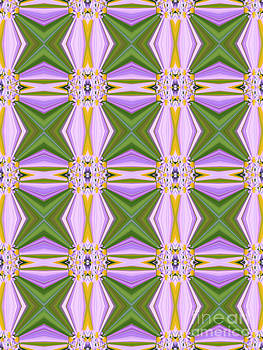 Beverly Claire Kaiya - Geometric Lavender Daisies