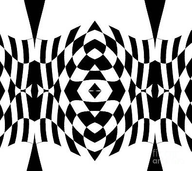 Geometric Op Art Black White Abstract No.266. by Drinka Mercep