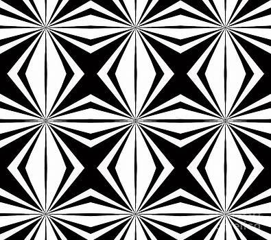 Geometric Pattern Abstract Black White Art No.291. by Drinka Mercep
