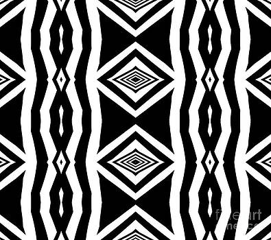 Geometric Pattern Abstract Black White Art No.339. by Drinka Mercep