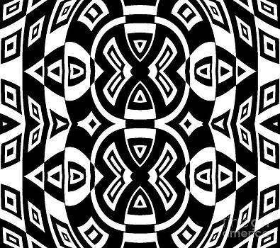 Geometric Pattern Black White Art Print No.283. by Drinka Mercep