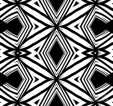 Drinka Mercep - Geometric Pattern Black White Artwork Print No.208