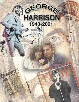 George Harrison Memorial Collage by Melinda Saminski