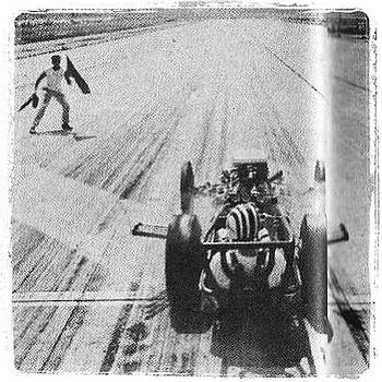 George Snizek In The Pacers B Dragster by Scott Snizek